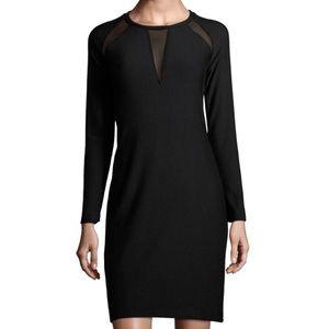 NEW T Tahari 'Leigh' Mesh Inset Dress Size XS